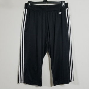 Adidas Cropped Capri Track Pants Womens XL Joggers